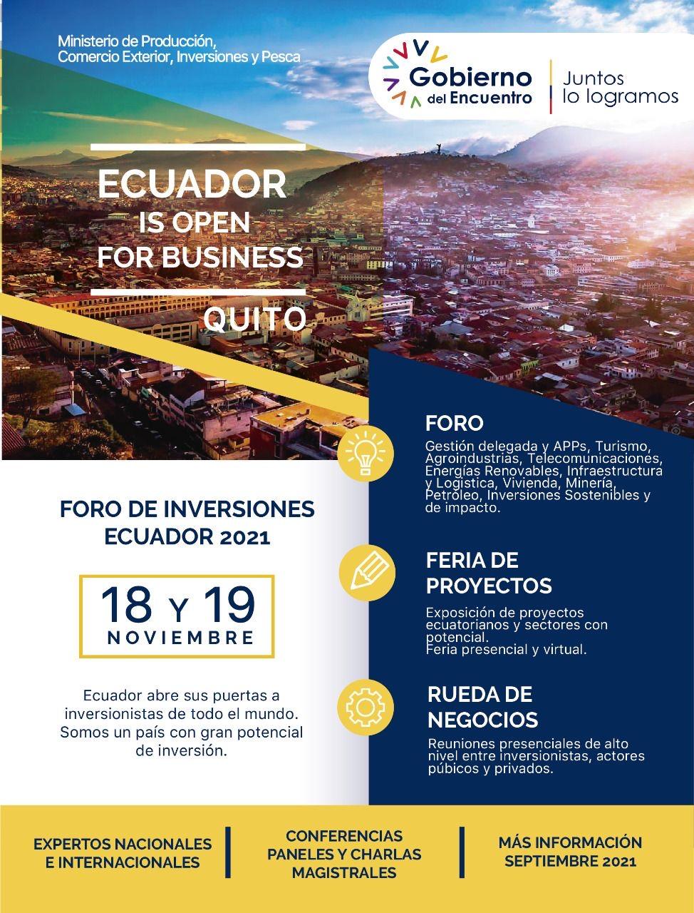 에콰도르 대통령 투자 설명회